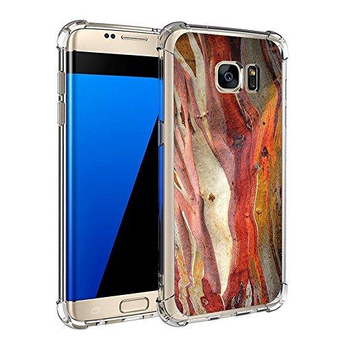 Pacyer Samsung Galaxy S7/S7 Edge Hülle Silikon cover Bumper Case [Ultra Dünn] Stoßfest Marmor grau braun hellblau TPU Schutzhülle Anti-Scratch Anti-Rutsch Handyhülle (3, Galaxy S7 Edge)