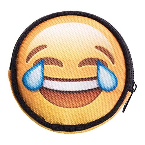 Marihuana-zubehör Hello Kitty (Geldbeutel Runde Geldbörse mit Reißverschluss Taschenorganizer Münzbörse Emoji Tears [041])