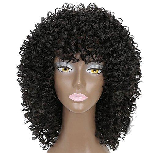 Bluestercool Frauen Kurze Synthetische Perücke Einstellbar Farbverlauf Haarschnitt ()
