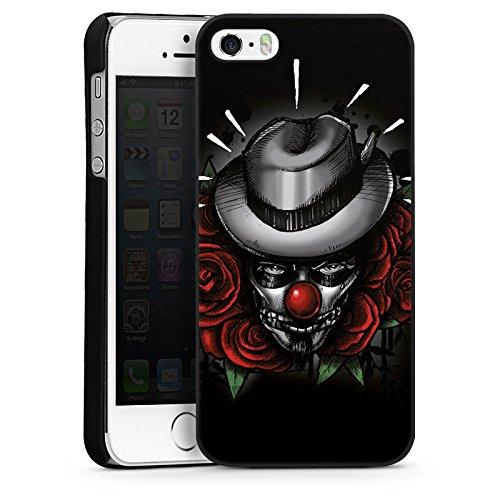 Apple iPhone 4 Housse Étui Silicone Coque Protection Joker - le Joker Fleurs Fleurs CasDur noir