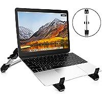 TOTOBAY Support Ordiateur Portable Pliable Laptop Stand Ventilé en Aluminium Design Ergonomique Minimaliste Smartphone Tablet Ordinateur Portable