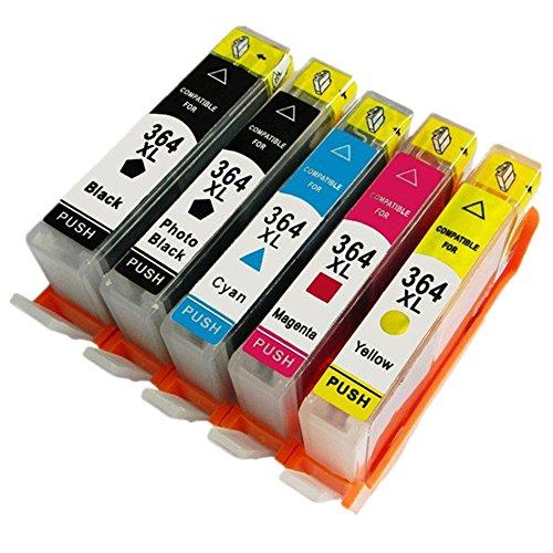 Preisvergleich Produktbild Generisch 5 Farbe Kompatible Tintenpatronen Ersatz für HP 364XL 364 XL für HP364 für HP364XL Tintenpatronen Hohe Kapazität kompatibel für HP Photosmart 5510 5511 5512 5514 5515 5520 5522 5524 6510 6520 6512 6515 7510 7520 7515 B8550 B8558 C5370 C5373 C5324 C6388 D5460 D5463 B110a B110c B010a B010b B111a B109a B109b C309a C309c B209a B210a HP Deskjet 3070A Tintenpatronen für Inkjet Drucker (1 Grossen Schwarz,1 Klein Schwarz,1 Cyan,1 Magenta,1 Gelb,1 Grau)