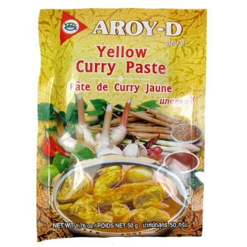 Aroy-D Curry / Yellow Curry Paste, 50-Gram by Aroy-D