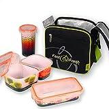 Set porta alimentos - Lunchbox + 3 tuppers 100% herméticos