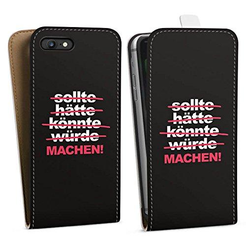 Apple iPhone X Silikon Hülle Case Schutzhülle Motivation Workout Sprüche Downflip Tasche weiß