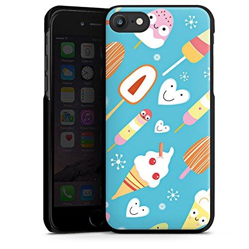 Apple iPhone 4s Silikon Hülle Case Schutzhülle Ice Cream Süßigkeiten Eis Hard Case schwarz