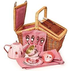 Egmont Toys - Set da tè per bambine, con cestino da picnic e stoviglie per bambole
