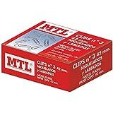 MTL 79202 - Pack de 100 clips niquelados, 42 mm