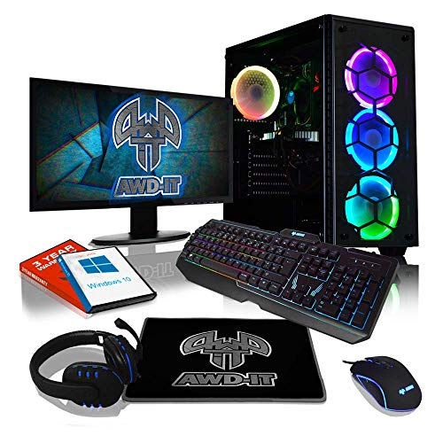 ADMI Gaming RGB PC Package: AMD A8 Quad Core, 8GB DDR4, 1TB HDD, 22
