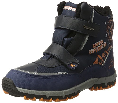 Kappa Unisex-Kinder Denton II TEX Teens Combat Boots, Blau (6744 Navy/Orange), 37 EU