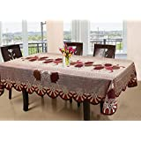 88ccab770 Kuber Industries Floral Cotton 6 Seater Dining Table Cover - Red