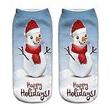 OverDose Damen 3D Gedruckt Weihnachten Frauen Unisex Lässig Täglich Home Party Geschenk Socken Niedliche Unisex Low Cut Söckchen