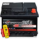BlackMax+30% - 12 V / 65 Ah - 620 A/EN Autobatterie KFZ PKW Batterie inkl. Polfett