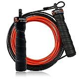 5BILLION Springseil Speed Rope - Verbiegen - Einstellbar - Workout für Double Unders, Fitness, WOD, Draussen, MMA & Boxen Ausbildung (Schwarz)