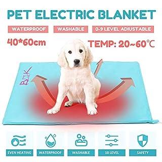 NBDPF Pet Heating Pad 10 Levels Electric Pet Self Heating Mat Waterproof Dustproof Warm Winter Soft Pad Dog Cat Bed Rug 30W