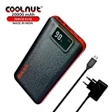 COOLNUT 20000mAh Power Bank for Mobile with 2- USB Charging Port, All Smartphone (India)