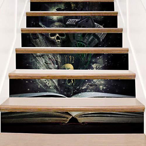DFGTHRTHRT 3D Simulation Treppenaufkleber entfernbare Wasserdichte Wandaufkleber Schlafzimmer Wohnzimmer DIY Tapete Wandabziehbilder (Color : WLT016, Size : OneSize)