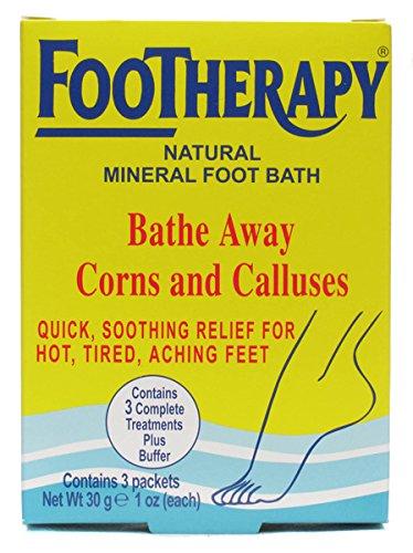 FooTherapy Natürliches Mineral-Fußbad, beruhigende Linderung bei müden, schmerzenden Füßen, 3 Packungen -