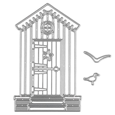 Enipate Metal Cutting Dies House Seagulls for Scrapbooking Album Invitation Home Decoration Embossing Stencils Cut