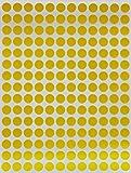 Etiquetas de colores ~ Pegatinas de lunares, 6/8 mm, en verde, amarillo, rosa, morado, naranja, marrón, azul y rojo por Royal Green