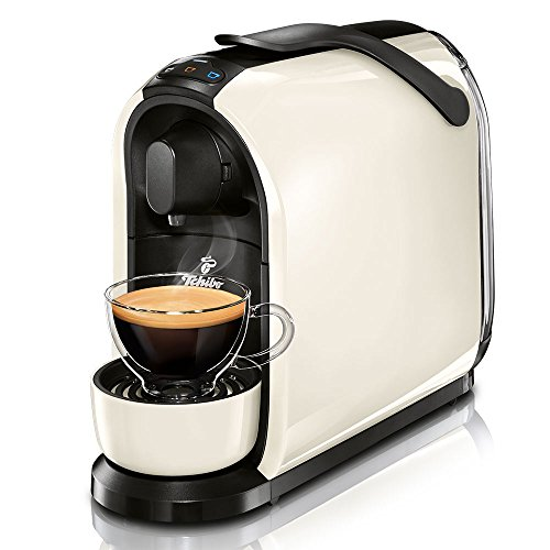 Tchibo Cafissimo Pure Kapselmaschine (für Kaffee, Espresso, Caffé Crema und Tee) weiß