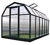 Rion Gewächshaus Gartenhaus Kunststoff SMART 37 + Fundament // 449x204x198 cm (LxBxH); Treibhaus & Tomatenhaus zur Aufzucht