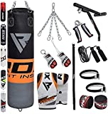 RDX Punch Bag Filled Set Kick Boxing MMA Heavy Training Muay Thai Gloves