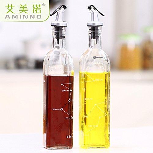 MEICHEN Cucina Gadget vetro perdita olio vaso di salsa di soia aceto bottiglia cucina creativa condimento, due pezzi costume da condimento bottiglie , style 8