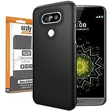 Orzly® - Exec-Armour HARD BACK CASE para LG G5 SmartPhone (2016 Modelo Teléfono Móvil) Funda de Posterior sólida en NEGRO