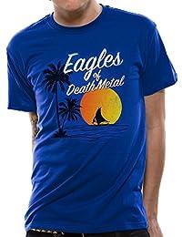 I-D-C Eagles of Death Metal-Sun Logo, Camiseta para Hombre