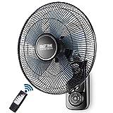 Ventilatore da Parete Oscillante Oscillazione Casa Ufficio con Telecomando e Timer / 3 velocità / 3 modalità Vento/Silenzioso / 60 W