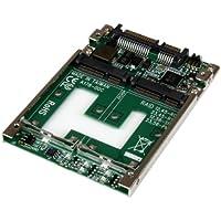 """StarTech.com 25SAT22MSAT - Adaptador de SSD mSATA doble a SATA RAID de 2.5"""""""