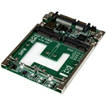 """STARTECH.COM Convertitore Adattatore Doppia SSD mSATA a RAID SATA 2.5"""""""