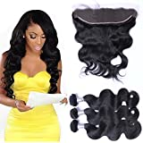 hmonghair Brazilian Human Hair Full Lace Wigs with baby Hair Bundles with Closure, body Wave 3Bundles with 13* 4Human Hair Lace Front Wigs