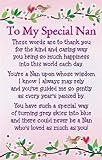 "Heartwarmers To My Special Nan Keepsake Card & Envelope 3.5"" x 2"" Code K097E"