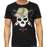 MINAZUKI, Herren T-Shirt, Camou Skull, MZ-TS-003