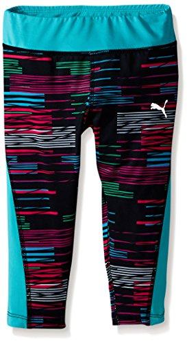 Puma Girls Active Legging Capri Stripe Glitch Print