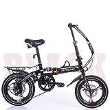 16 zoll falt fahrrad,Faltbare s-bike für erwachsene kinder mitte grundschule schüler leicht stoßdämpfenden geschwindigkeit auto motorrad-B 105x130cm(41x51inch)