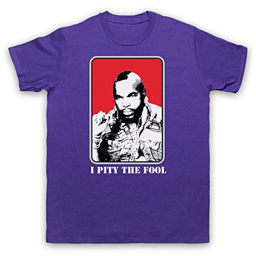 Inspiriert durch A Team BA Baracus I Pity The Fool Unofficial Herren T-Shirt Violett