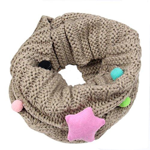 Otoño Invierno Bufanda para Bebé Niños Niñas,Gypsophila Tejer Algodón O Ring Pañuelos By VENMO (caqui)