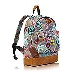 De la ciudad de diseño de Londres Souvenir mochila de bolsa bandolera de lona de senderismo para la escuela de cuerdas para el gimnasio bolsa para raquetas de tenis Casual