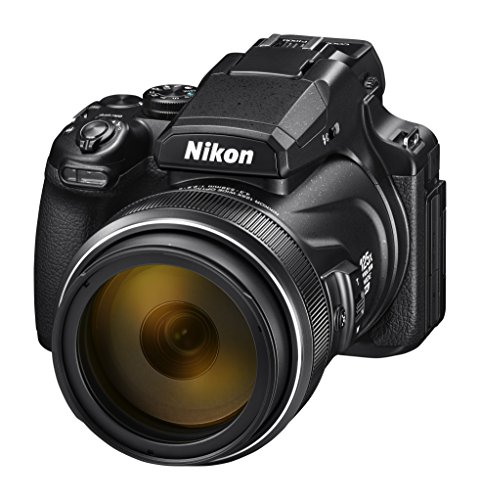 Nikon Coolpix P1000 Digitalkamera (16 Megapixel, 125-Fach optischer Megazoom, 3.2 Zoll RGBW-Display, 4K UHD-Video, WI-Fi) (Wifi Foto)
