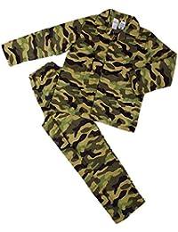 Boys CAMOUFLAGE Army Luxury Zip Fleece Sleepsuit Hooded 7 to 13 Years RRP £39.99