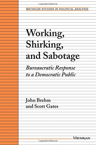 Working, Shirking, and Sabotage: Bureaucratic Response to a Democratic Public: Bureaucratic Response to a Democratic Republic (Michigan Studies in Political Analysis)