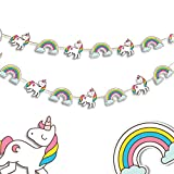 #6: Unicorn Party - Baby Shower - Party Decorations - Birthday Party Supplies - First Birthday - Paper Garland - Photo Props - Unicorn Garland - Nursery Decor - 10 Feet