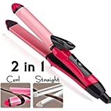 MW Mall India Combo Set of 2-in-1 Ceramic Plate Hair Straightener with Curler