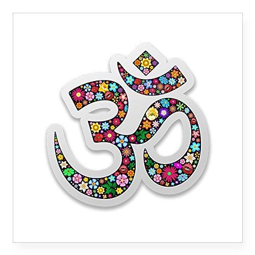 aste Yoga Symbol Aufkleber quadratisch Aufkleber 3x 3, weiß, 3 x 3 ()
