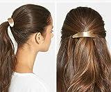 cuhair 2pc Gold Silber Poliert Vintage Punk Metall Legierung Haar