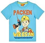 Bob der Baumeister Kollektion 2018 T-Shirt 92 98 104 110 116 122 128 Shirt Jungen Blau (Blau, 104-110)