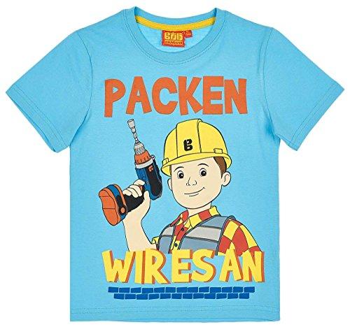 Bob der Baumeister Kollektion 2018 T-Shirt 92 98 104 110 116 122 128 Shirt Jungen Neu Blau (Blau, 98-104)